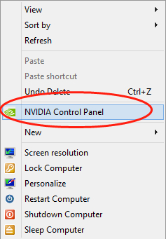 change the graphics card settings