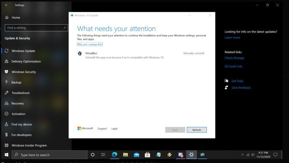 كيفية إصلاح تحديثات الويندوز التي لا يمكن تشغيلها بسبب برنامج VirtualBox