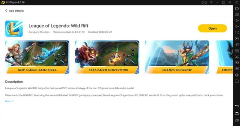 wild rift ldplayer