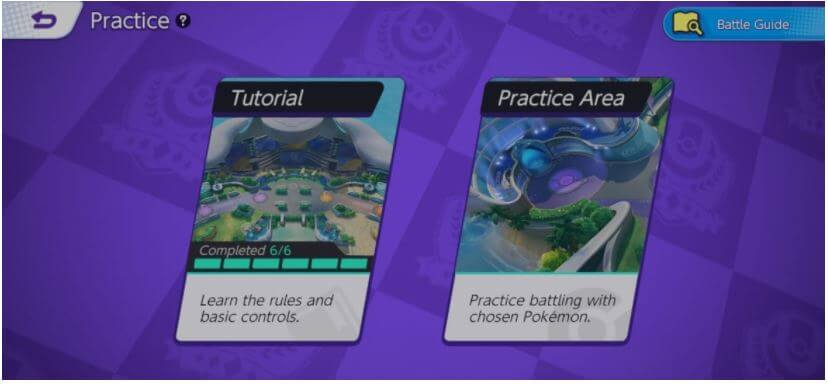 Pokemon Unite Practice Area
