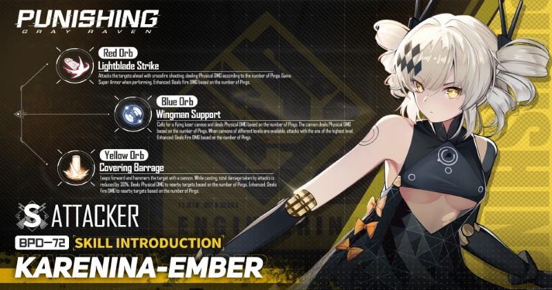 Punishing-Gray Raven Karenina Embers Orb Skills