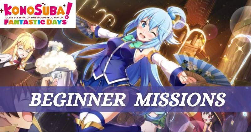 KonoSuba Fantastic Days Beginner Missions