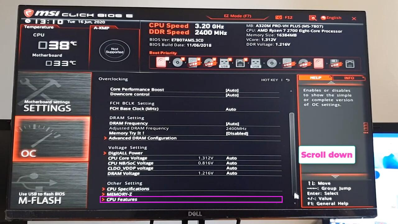 Enable Virtualization Technology (VT) on MSI computer and motherboard
