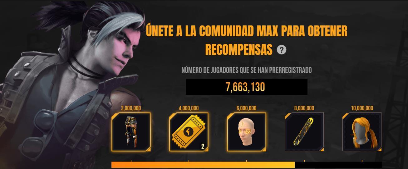 Free Fire Max en preinscripción con recompensas especiales