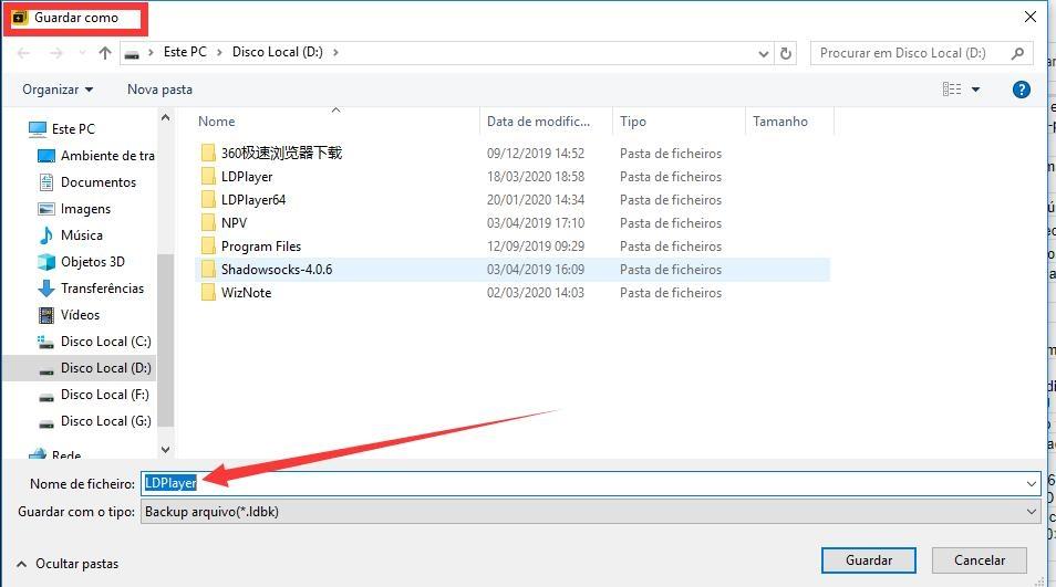 Como guardar os dados de emulador no pendriver ou outro ficheiro ?