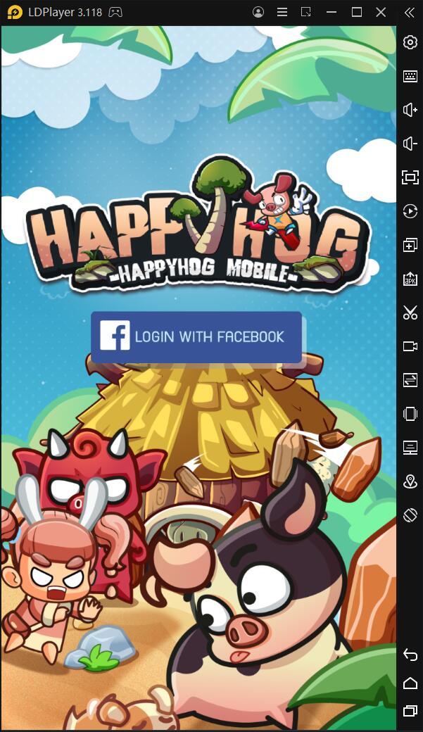 วิธีการติดตั้งและการเล่นเกม HappyHog Mobile บน PC