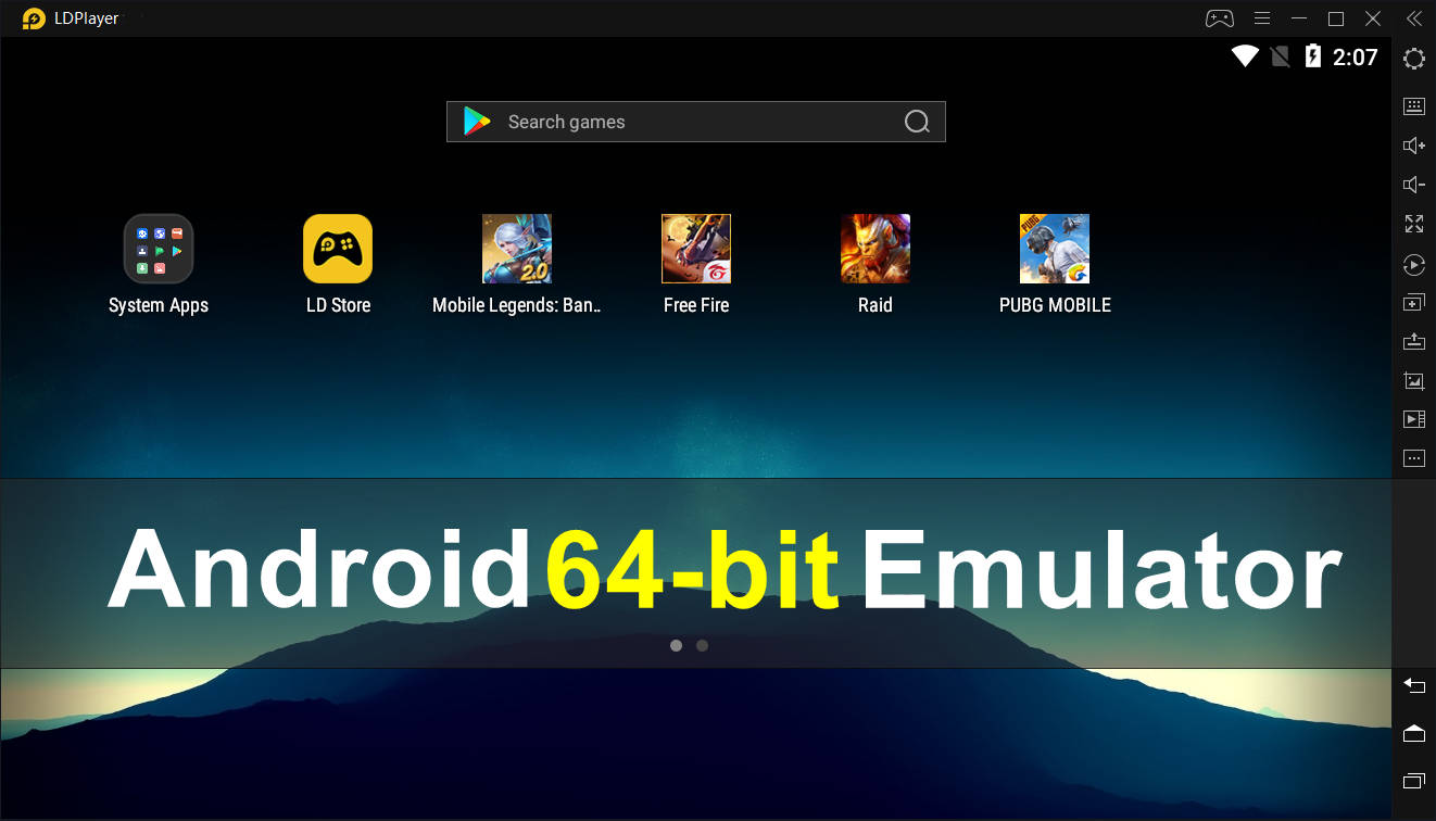 Download 64-bit Android Emulator for 64bit-Required Games