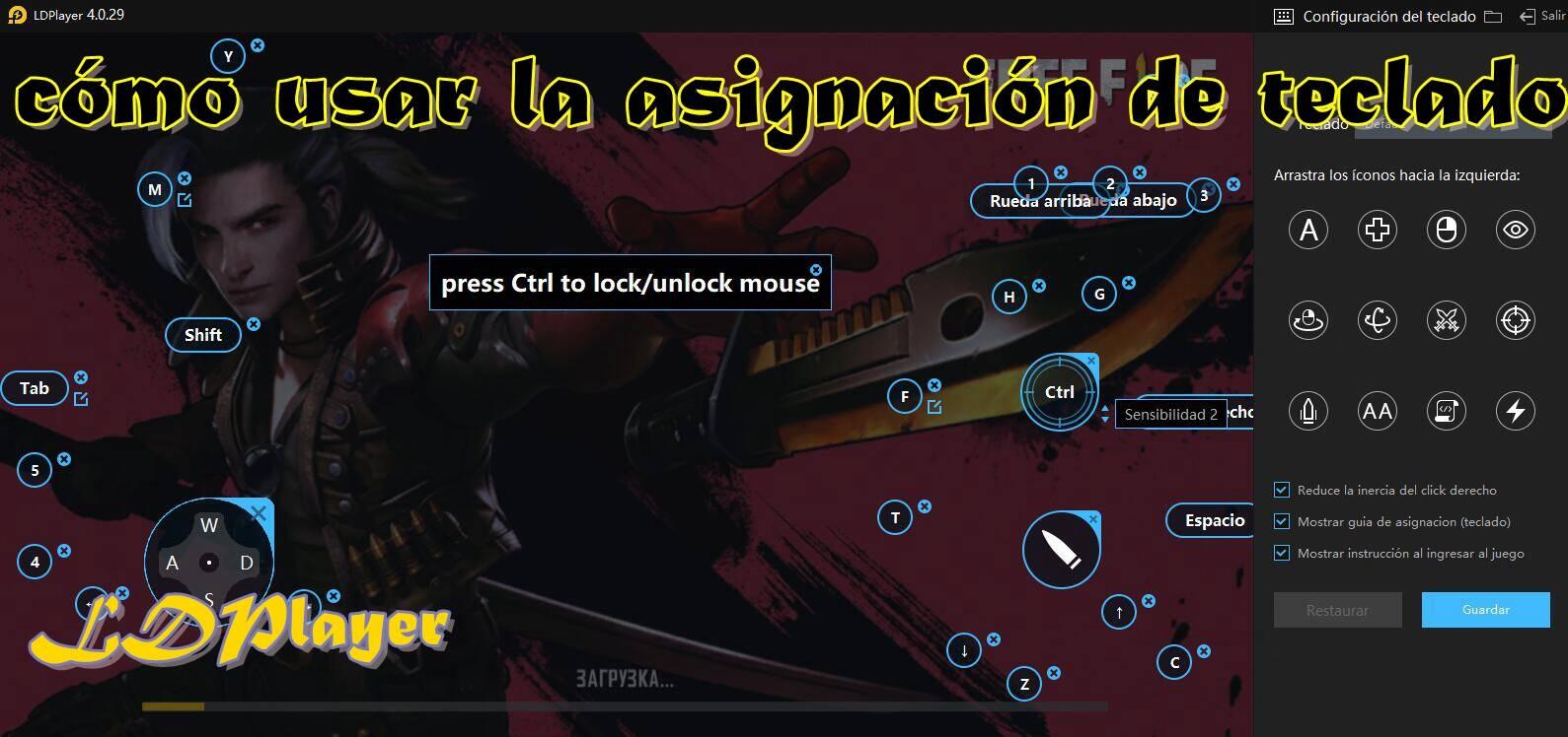 Asignación de teclas en el emulador: cóm...