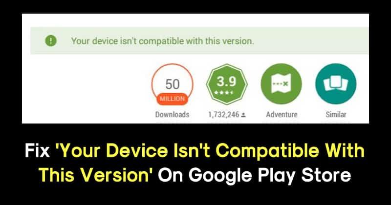 Solusi untuk perangkat Anda tidak kompat...